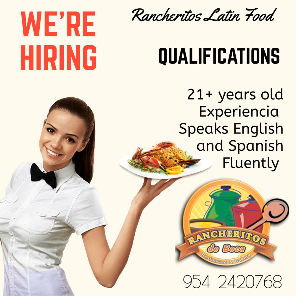 Waitress Help Wanted in Boca Raton, FL