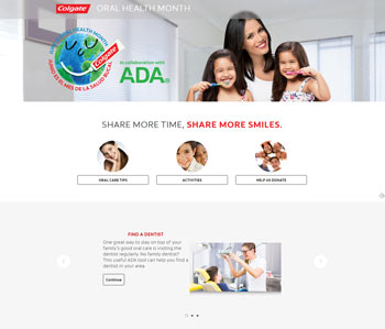 Website for Colgate / ADA Sonrisas