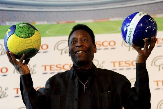 Pele, Brazilian soccer player known as the King of Soccer