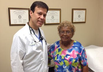 Delia Ortiz with Dr. Villa