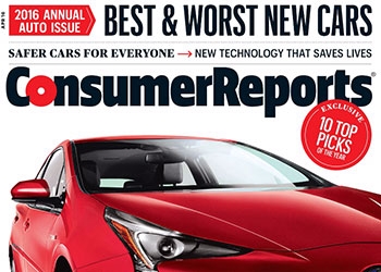 Consumer Reports' 2016 Annual Top Picks: Kia Sorento & Lexus RX Are