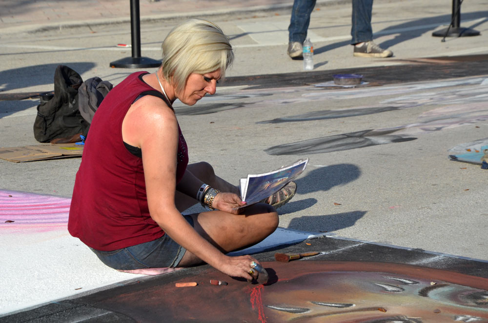 Tonya Reese Youngberg at Lake Worth Street Painting