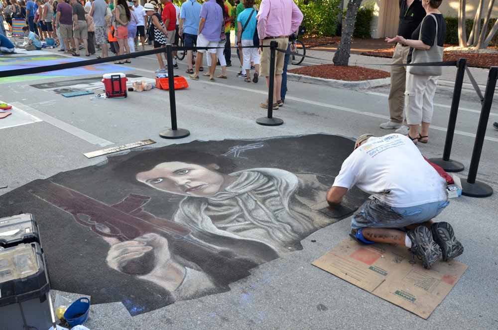 David Lepore at Lake Worth Street Painting