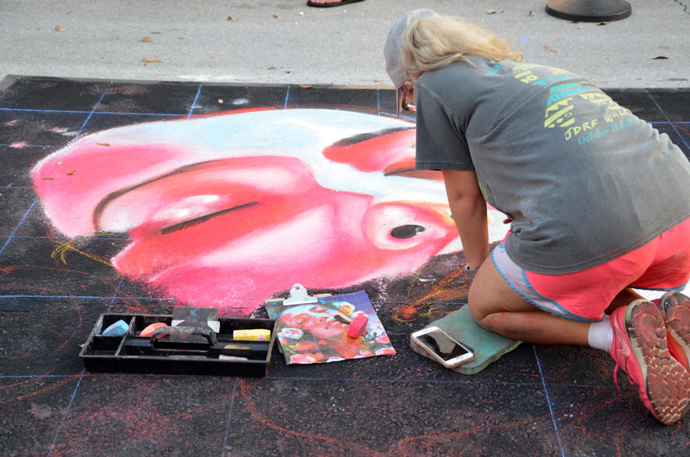 Cathryn Bozone at Lake Worth Street Painting