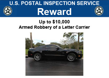 US Postal Inspection offers a $10,000 reward