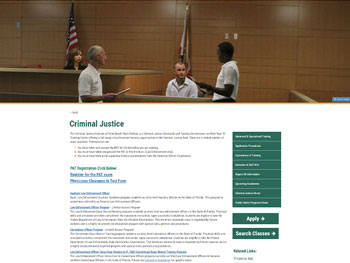 The Criminal Justice Institute website at Palm Beach State College